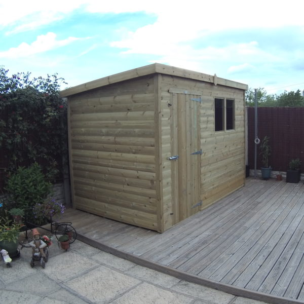 budget shed pent roof